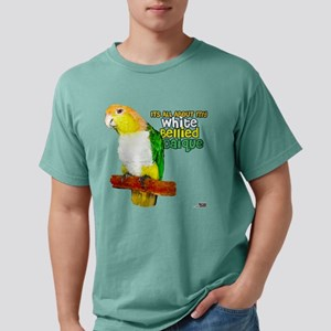 White-Bellied Caique White T-Shirt