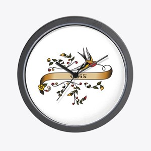 Coin Scroll Wall Clock