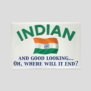 Good Lkg Indian 2 Rectangle Magnet
