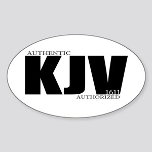 KJV Oval Sticker