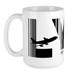 Longyearbyen Airport Code Norway LYR Large Mug
