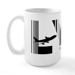 Longyearbyen Airport Code Norway LYR Large Mug
