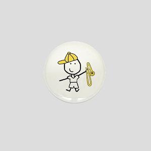 Boy & Trombone Mini Button