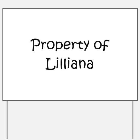 Lilliana Yard Sign