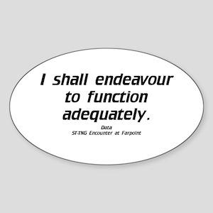 Function Adequately...Light Oval Sticker