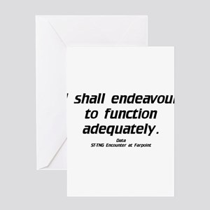 Function Adequately...Light Greeting Card