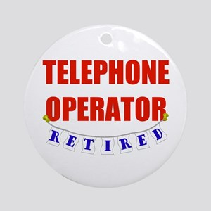 Retired Telephone Operator Ornament (Round)