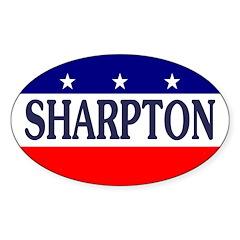 Al Sharpton Oval Bumper Decal