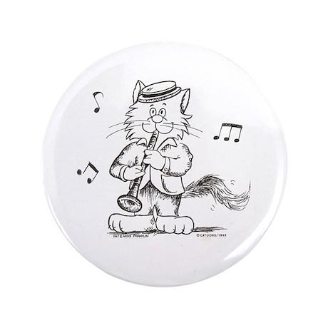 "Catoons clarinet cat 3.5"" Button"