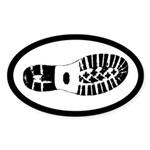 Human Boot Track for SAR Trackers Euro Sticker (Ov