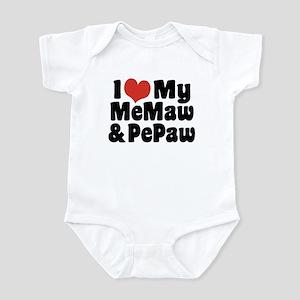 I Love My MeMaw And PePaw Infant Bodysuit