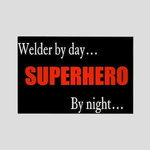 Superhero Welder Rectangle Magnet