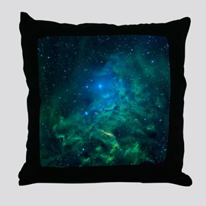 Flaming Star Nebula Throw Pillow