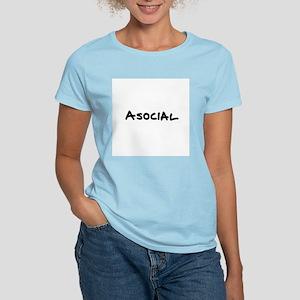 Asocial Women's Pink T-Shirt