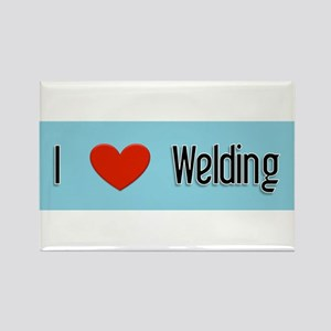 I heart Welding Rectangle Magnet
