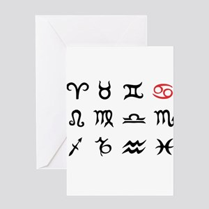 Zodiac Signs Cancer Greeting Card