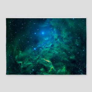 Flaming Star Nebula 5'x7'Area Rug