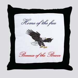 Home of the free... Throw Pillow