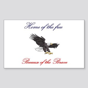 Home of the free... Rectangle Sticker