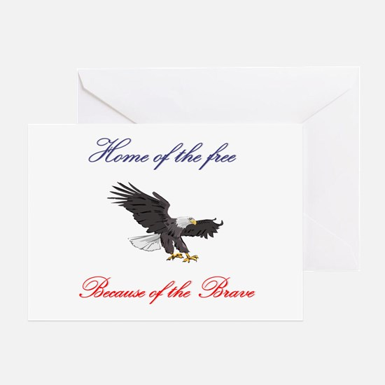 Home of the free... Greeting Card