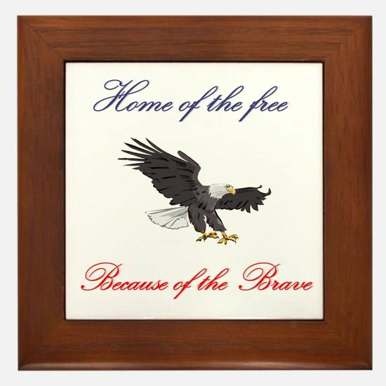 Home of the free... Framed Tile