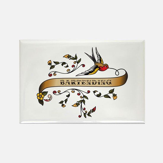 Bartending Scroll Rectangle Magnet