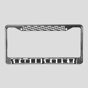 Full Tilt License Plate Frame