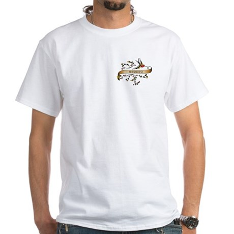 Banking Scroll White T-Shirt