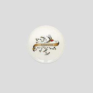 Bagpipes Scroll Mini Button
