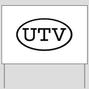 UTV Oval Yard Sign