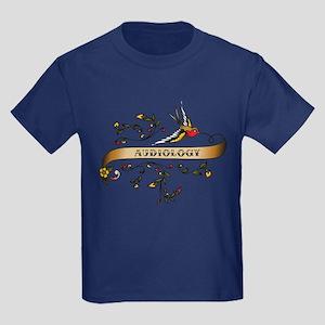 Audiology Scroll Kids Dark T-Shirt
