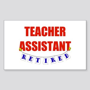 Retired Teacher Assistant Rectangle Sticker