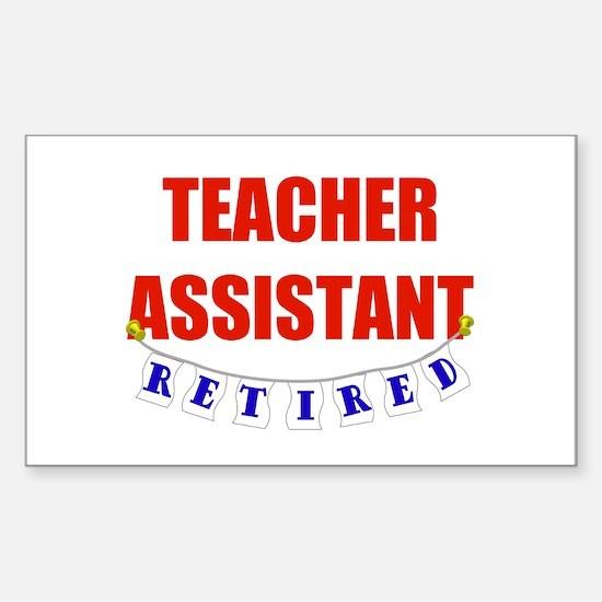 Retired Teacher Assistant Rectangle Bumper Stickers
