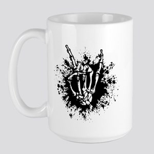 Rock in Bone Splat Large Mug