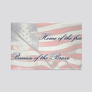 Home of the free... Rectangle Magnet
