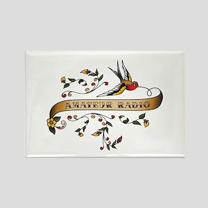 Amateur Radio Scroll Rectangle Magnet