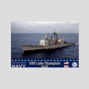 USS Lake Champlain CG-57 Rectangle Magnet