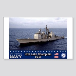 USS Lake Champlain CG-57 Rectangle Sticker