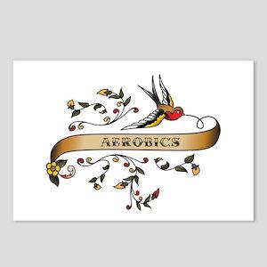 Aerobics Scroll Postcards (Package of 8)