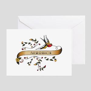 Aerobics Scroll Greeting Card