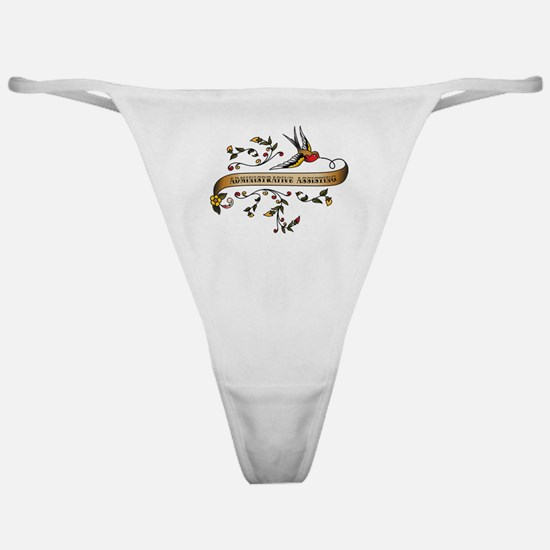Administrative Assisting Scroll Classic Thong