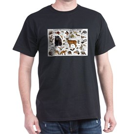 Land Mammals of New Jersey T-Shirt