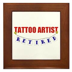 Retired Tattoo Artist Framed Tile