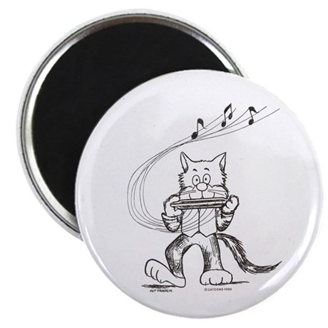Catoons harmonica cat Magnet