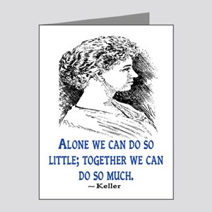 KELLER QUOTE Note Cards (Pk of 20)