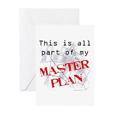 Master Plan Greeting Card