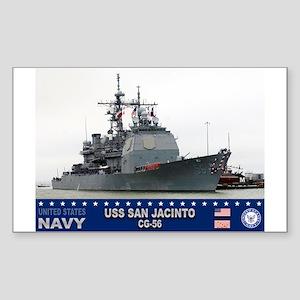 USS San Jacinto CG-56 Rectangle Sticker