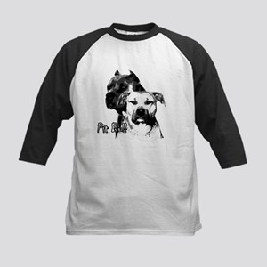 two heads pit bull design Kids Baseball Jersey