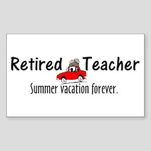 Retired Teacher Sticker (Rectangle)