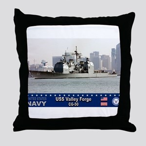 USS Valley Forge CG-50 Throw Pillow